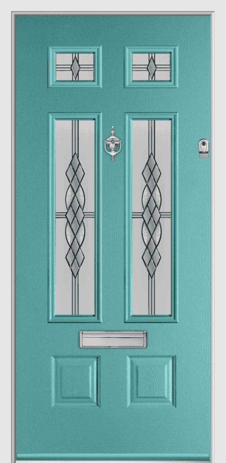 Bowmont Composite Door - Composite Doors Cardiff Cowbridge and The Vale Turquoise Pastel