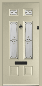 Bowmont Composite Door - Composite Doors Cardiff Cowbridge and The Vale Turquoise Pastel Cream